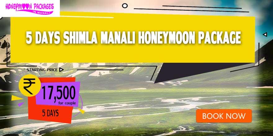 5 Days Honeymoon Packages in Manali