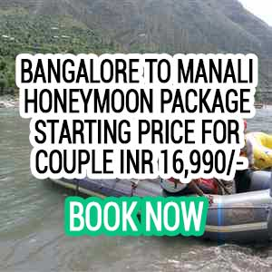 Bangalore to Manali honeymoon package