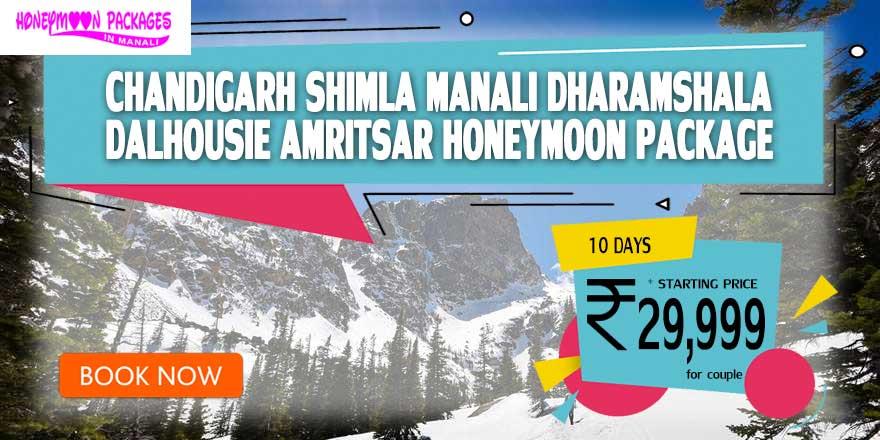 Chandigarh Shimla Manali Dharamshala Dalhousie Amritsar packages