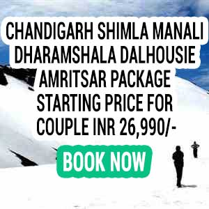 Chandigarh Shimla Manali Dharamshala Dalhousie honeymoon packages