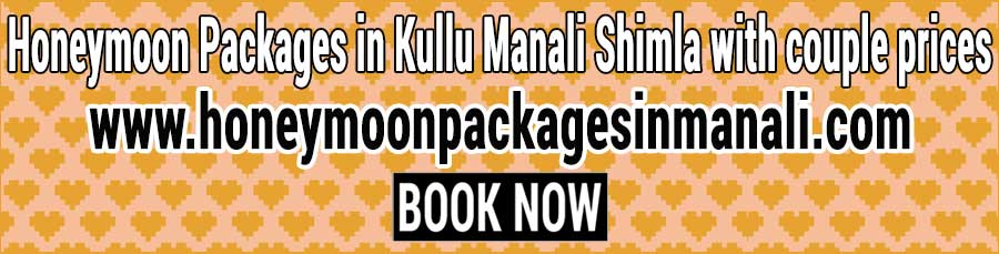 Best Honeymoon Packages in Kullu Manali Shimla with couple prices