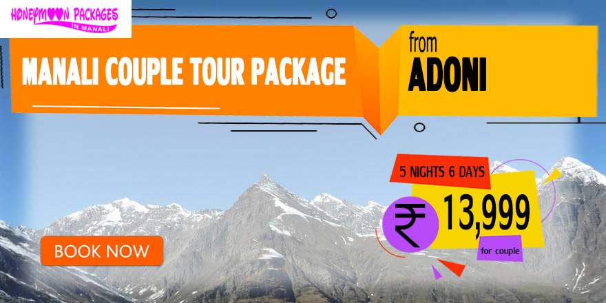 Manali couple tour package from Adoni