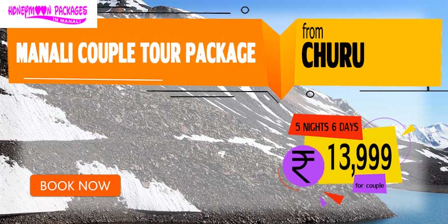 Manali couple tour package from Churu
