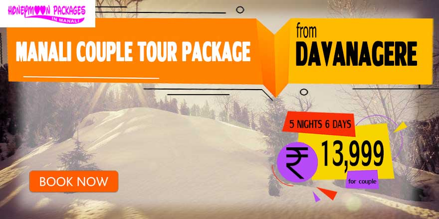 Manali couple tour package from Davanagere
