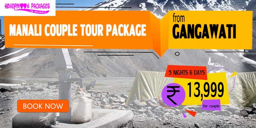 Manali couple tour package from Gangawati