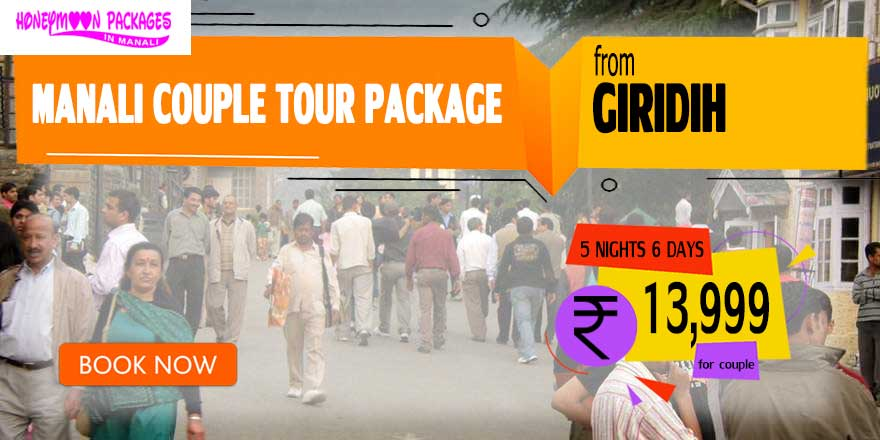 Manali couple tour package from Giridih