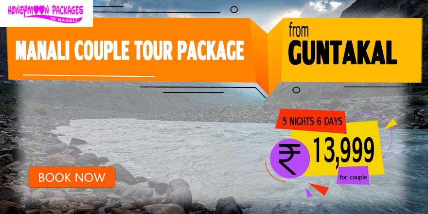 Manali couple tour package from Guntakal
