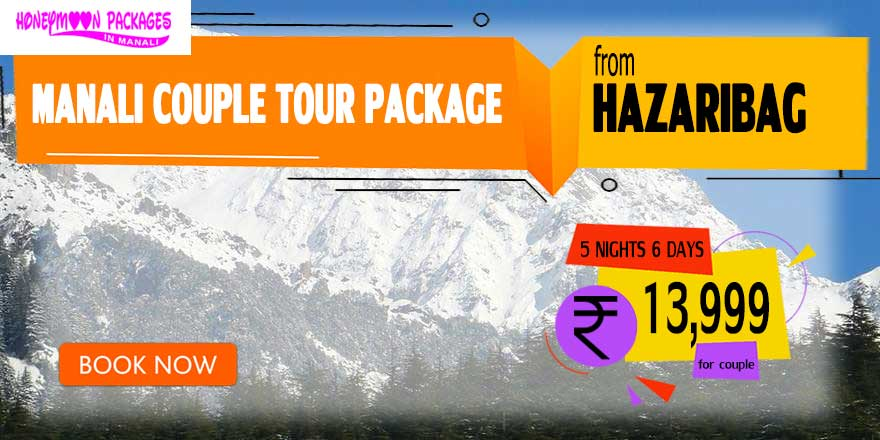 Manali couple tour package from Hazaribag