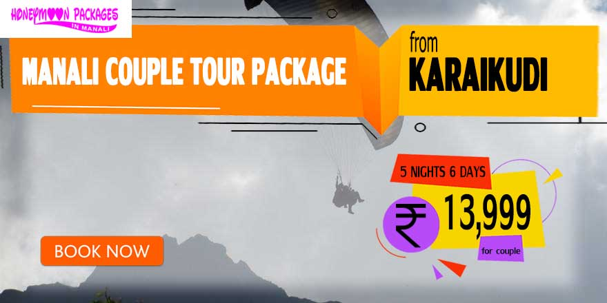 Manali couple tour package from Karaikudi