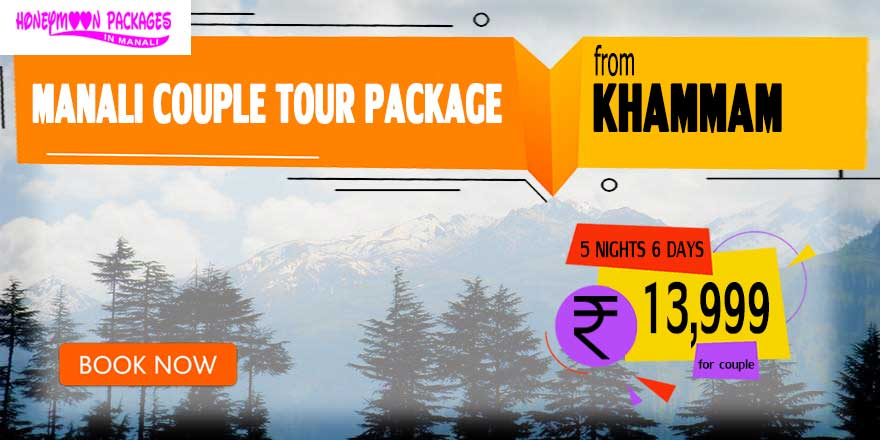 Manali couple tour package from Khammam