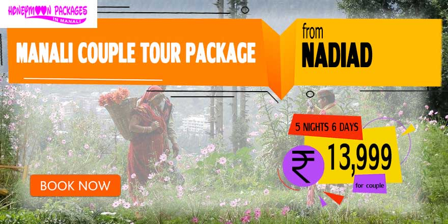 Manali couple tour package from Nadiad