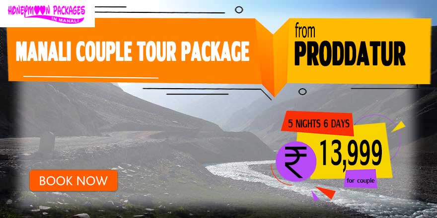 Manali couple tour package from Proddatur