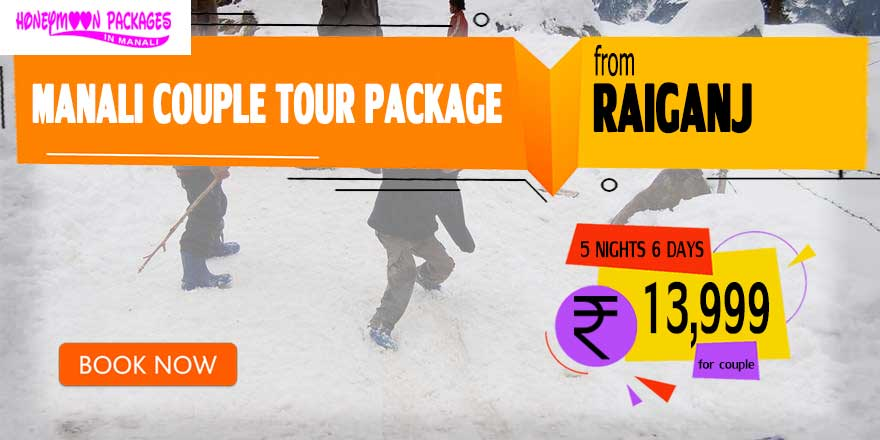 Manali couple tour package from Raiganj