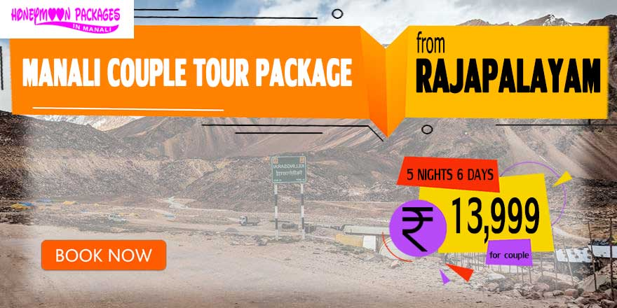 Manali couple tour package from Rajapalayam