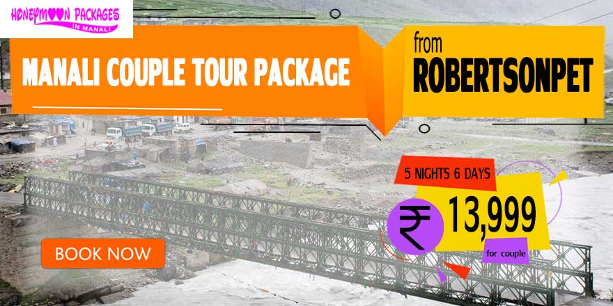 Manali couple tour package from Robertsonpet