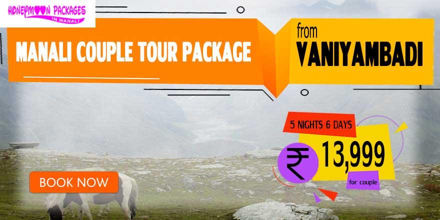 Manali couple tour package from Vaniyambadi